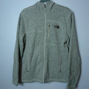 The North Face Zip Front Gray Hooded Jacket Small